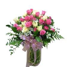 분홍장미꽃다발
